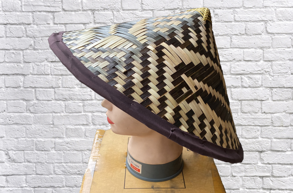 Bamboo conical hat with fish pattern
